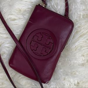 Tory Burch Phone Crossbody in Port or Claret